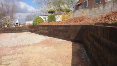 Muro contención extrados