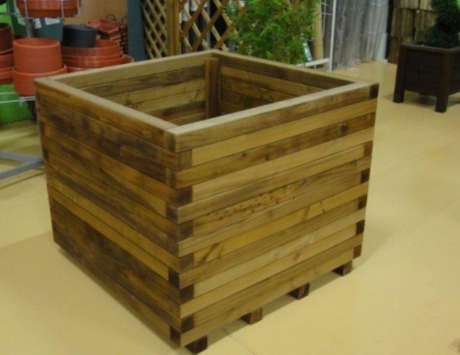 Decora tus flores y plantas con jardineras de madera la rioja - Jardinera de madera ...