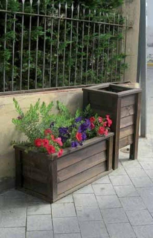 decora tus flores y plantas con jardineras de madera la rioja