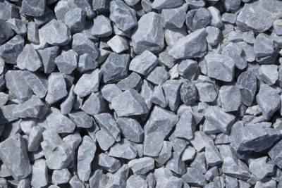Piedra Triturada gris nevada