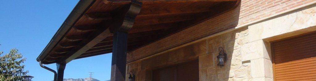 Porches de madera en La Rioja
