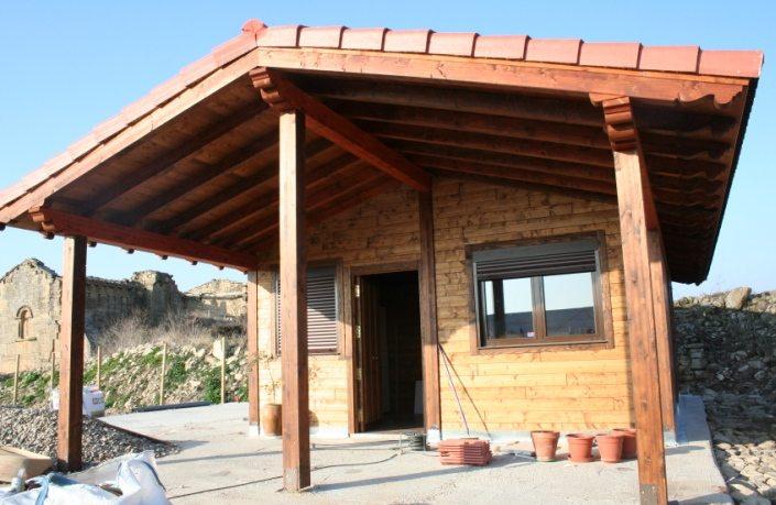 Construir un porche de madera elegant porche de madera - Construir un porche ...