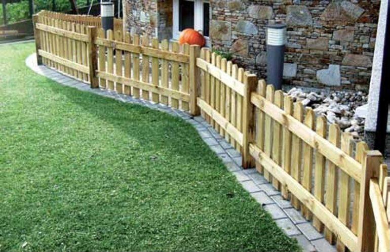 Decora y delimita tu jard n con una preciosa valla de madera la rioja - Aki vallas jardin ...