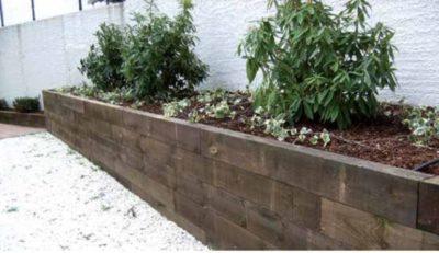 Vigas de madera para jardín